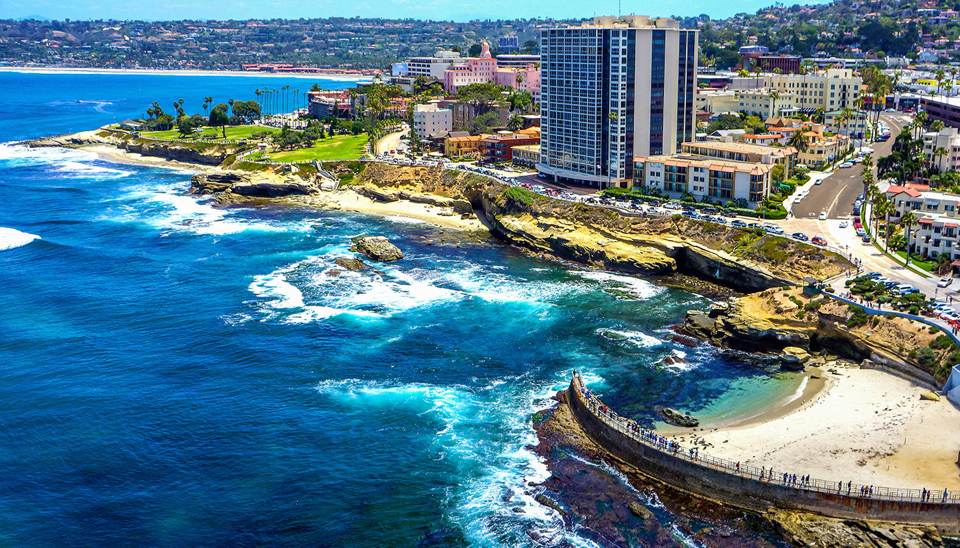Pantai Inn La Jolla Aerial City View