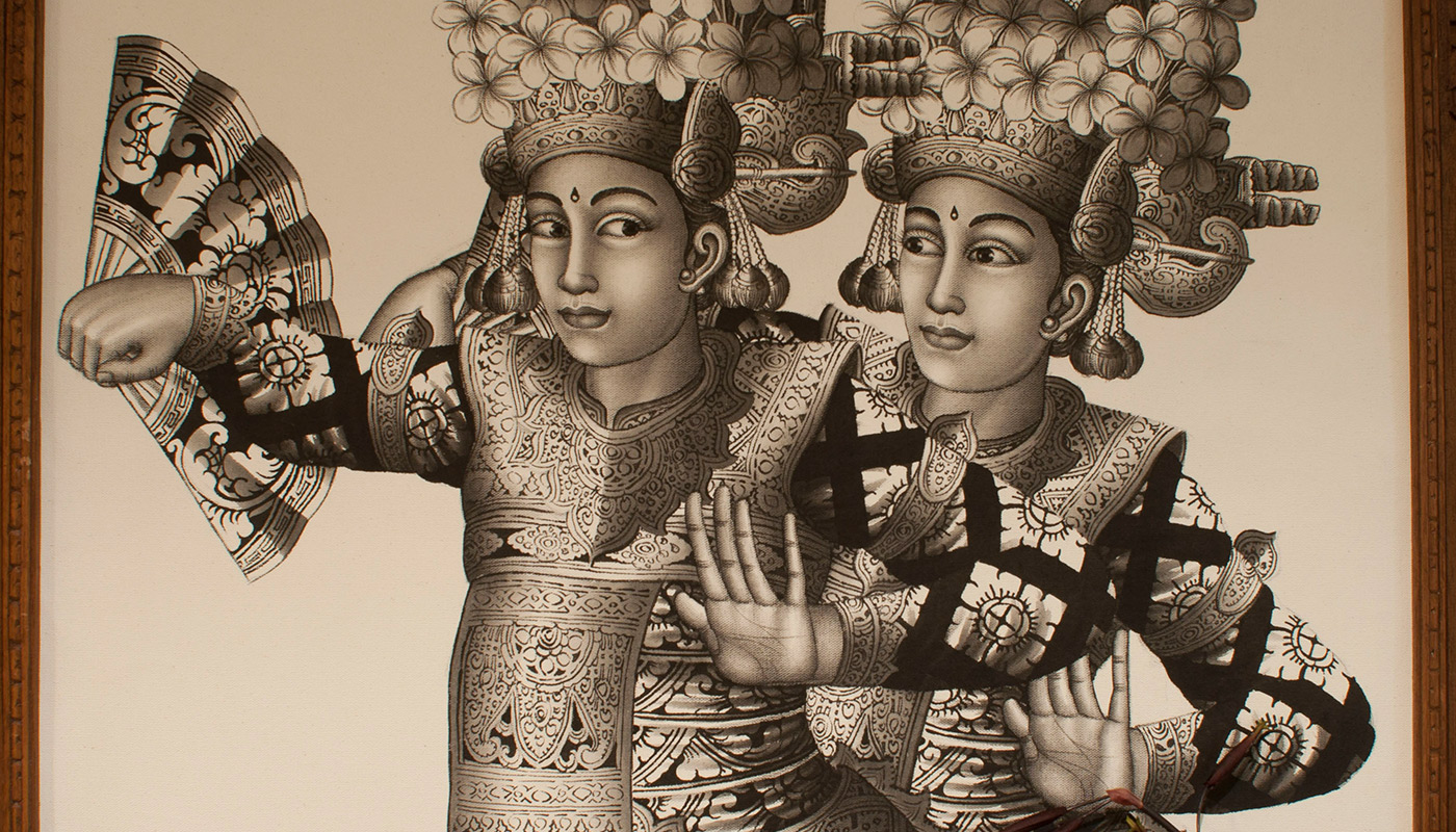 Balinese Couple Art