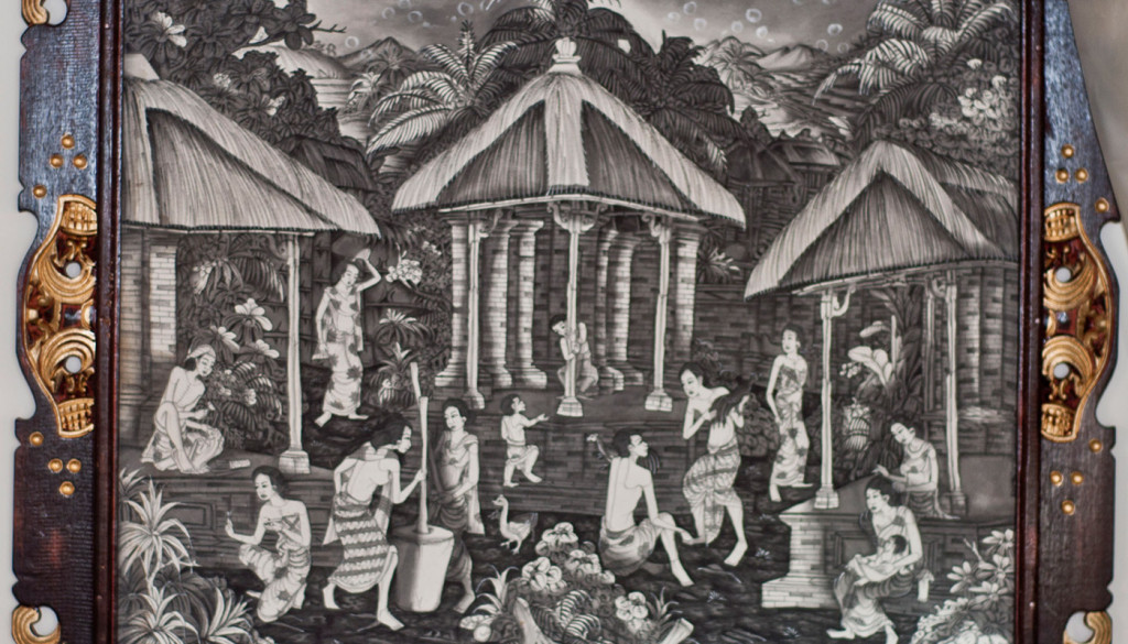 Black and White Balinese Art