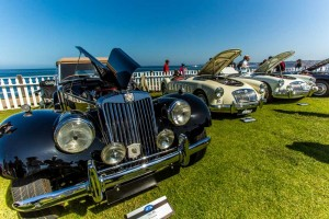 Concour's D'Elegance car show is across from Pantai Inn, La Jolla