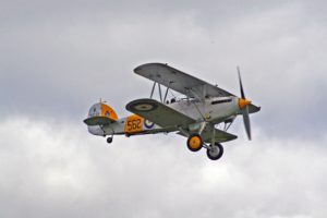 Airplane parade featuring vintage airplanes in formation at La Jolla Concours d'Elegance and Pantai Inn