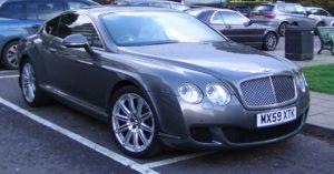 Pantai Inn in La Jolla offers a luxury car rental similar to this Bentley luxury car